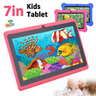 "7"" HD WiFi Android Tablet PC Quad Core Kids Children Dual Camera Education Gift"