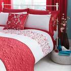 Catherine Lansfield Kyoto Embroidered Flower Duvet Cover Set, Hot Pink