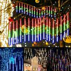 30/50CM LED Meteor Shower Lights 8 Tubes Falling Rain Icicle Xmas Party Outdoor