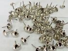 50 x SILVER DECORATIVE UPHOLSTERY NAILS / TACKS / STUDS / PINS:  16mm nominal