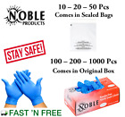 GLOVES + FREE MASK 10 -20 -50 -100 PACK NITRILE - LATEX- VINYL ALL POWDER FREE