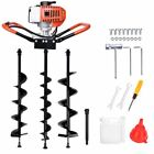 52CC Gas Powered Post Hole Digger Earth Auger Ground Drill Or 3 Auger Drill Bits
