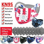 Face Mask Set With Breathing Valve /filter Mouth Mask Protect Sets Reusable