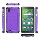 Solid Color Combat Case for Alcatel TCL A2 / Signa / A507DL Hybrid Phone Cover