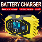 Car Battery Charger 12V 24V Volt Motorcycle Battery Repair Lithium Charger 3/6A