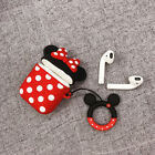 Fun Disney Minnie Mouse Soft Earphone Cover For Apple Airpods 1/2 Charging Case
