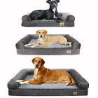 Tough Waterproof Pet Dog Bed Chaise Sofa Spine Supportive Massage Bolster 3 Size