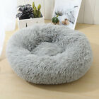 Warm Pet Dog Cat Calming Beds Comfy Round Fluffy Bed Nest Mattress Donut PadS-XL