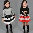 Kids Baby Girls Princess Tutu Dress Long Sleeve Party Pageant Swing Dresses