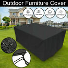 Waterproof Rattan Table Cube Seat Cover Large Outdoor Garden Patio Furniture