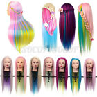 27'' Colorful Long Hair Mannequin Doll Practice Head Hairdressing With Clam