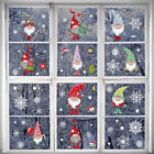 Christmas Window Decal Santa Claus Reindeer Snowflake Stickers Home Decoration
