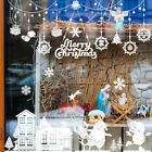 Merry Christmas Window Stickers Snowflake Xmas Wall Decals Home Office Decor
