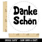 Danke Schön German Thank You Very Much Rubber Stamp Stamping Crafting Planners