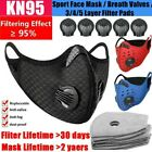Sports Mouth-muffle Cycling Face Shield Reusable & Activated Carbon Fliter Pads