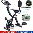 ANCHEER Folding Upright Exercise Bike 3-in-1 Magnetic Stationary F-Bike App Ctrl
