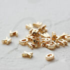 2 Pieces Premium Gold Plated Brass Alphabet Spacer - Letter Spacer - 6mm 4533C