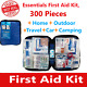 First Aid Kit Emergency Bag Home Car Outdoor, All Purpose Kit, Portable 312 pcs photo