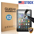 """2X HD Clear 9H Tempered Glass Screen Protector for Amazon Kindle Fire 7"""" / HD 8"""""""