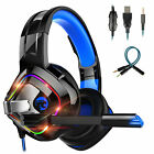 Pro Gaming Headset LED Headphone with Noise Cancelling Mic For PS4/Xbox One/PC