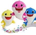 Baby Plush Shark Teddy Stuffed Toys Soft Singing Dolls Xmas Gift Kids Boys Girls