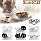 Double Bowls Raised Elevated Detachable Pet Feeding Station Dog Cat Food Water