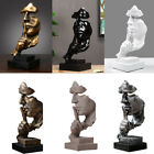 Modern Abstract Thinker Sculpture Face Resin Ornament Statue Figurine Home Decor