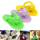 Pet Cat Dog Cotton Braided Slippers Chew Toy Puppy Teething Aid Interactive Toys