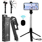Wireless Extendable Selfie Stick Monopod Tripod +Remote Shutter For Cell Phone