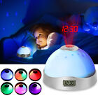 Electric LED Alarm Clock With Phone QI Wireless Charger Desk Digital Thermometer