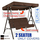 2 Seats Garden Patio Swing Chair Canopy Replacement Seat Cover Waterproof V H