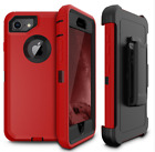 Apple IPhone 8 Case Premium Holster Defender PC Protective TPU Black Thin Cover