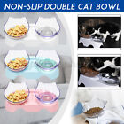Non-slip Double Pet Bowls Dog Cat Feeding Station Raised Stand Water Food Feeder