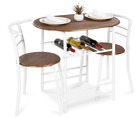 3-Piece Wooden Round Table & Chair Set Dining Table Set for Kitchen, Dining Room