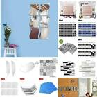 Wall Tiles Square Mirrow Stickers Self Adhesive Home Bedroom Decor Stick On Art