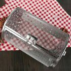 Stainless Steel Grill Oven Roaster Tumble Peanut Beans Basket BBQ Rotisserie photo