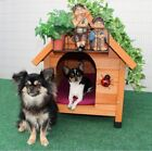 Insulated Spike Classic Dog Kennel WeatherProof Wooden Outdoor Warm Dog House