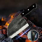 Hunters Serbian Chef Kitchen Handmade Forged High-carbon Clad Knife Cleaver Box