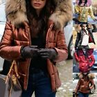 Womens Faux Fur Hooded Thicken Jacket Parka Shiny Padded Coat Outwear Overcoat