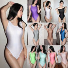 Women Sexy Shiny Wet Look Bikini Leotard Bodysuit Stretchy Jumpsuit Slim Rompers