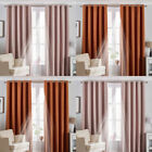 Riva Home Twilight Plain Thermal Blackout Lined Eyelet Curtains