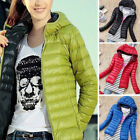 Women Quilted Padded Puffer Bubble Hooded Zip Coat Winter Lightweight Jacket