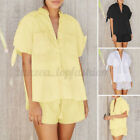 2PCS Women's Summer Pyjamas Set Sleep Lounge Shorts Nightwear Loungewear Pajamas