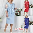 1pcs Dress Light Blue Blue Casual Women Half Sleeve Elegant Ladies New