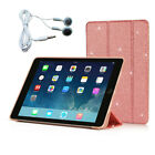 For iPad Pro 9.7-Inch 2016 Smart Cover Case Shell with Auto Sleep Wake Earphones