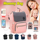 USB Charging Waterproof Baby Nappy Diaper Bag Mummy Stroller Nursing /