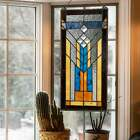 River of Goods Mission Stained Glass 19.5-inch Window Panel
