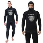 Mens 5mm Neoprene Wetsuits Top Pants Surfing Scuba Diving Suit Anti-UV Wetsuit