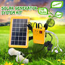 Solar Power Panel Generator+2 LED Blub Charger Home System Outdoor    H