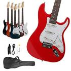 Full Size Basswood Electric Guitar+Strap+Cord+Gigbag Beginner Pack Accessories